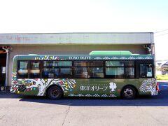 オリーブバスというローカルバス。 オリーブ公園までは20分程度、300円。 娘はこちらのローカルバスが気に入ったようで、乗車中は真剣に外の景色を眺めておりました。