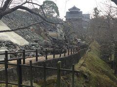 とりあえず 熊本城に到着 特別見学コースはチェックイン後にまわることにし 無料コース?(加藤清正神社方向)を歩きます
