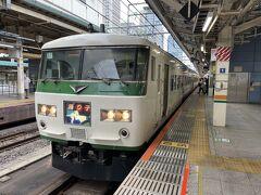 日帰り熱海に行ってきました。東京駅発9時の踊り子号で出発です。