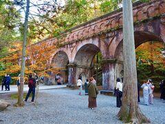 南禅寺と言ったら、この水路閣。 着物を着た若者がたくさん! ここは、南禅寺の映えスポット!