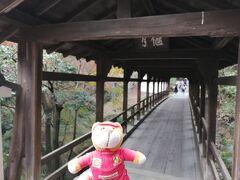 龍吟庵には、東福寺の3つの橋のうち、最も古い偃月橋を渡って行きます。