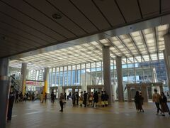 JR横浜線に乗り換え、今夜の宿泊先・新横浜に着きました。  コンコースは賑やか。