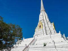 ◆14:00到着 アユタヤ南郊外にある白い塔、ワット プーカオ トーンに到着