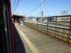 蒲郡競艇場前駅。 すぐとなりにJRの三河塩津駅がある。