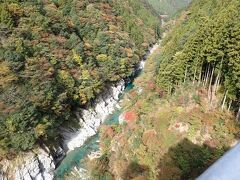 祖谷渓に面したテラス席もあります。  この祖谷渓の風景を見ることが出来ます。 お~~高い!