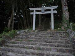 御嶽山頂の御嶽神社。中津宮の一部として世界遺産のエリアとして登録されています。