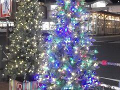 秋田駅前もクリスマスモード