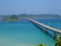 ガイドブックなどに必ず載っている、展望台付近からの写真です。角島大橋は日本で10番目に長い橋(1780m)で、通行料無料の橋としては3番目に長い橋になります。コバルトブルーの海に架かる橋の雰囲気は、日本で9番目に長い橋(1960m)で通行料無料としては2番目に長い、沖縄の古宇利大橋と雰囲気がよく似ていて素晴らしかったです。ちなみに通行無料1位は宮古島の伊良部大橋(3540m)で、長さは日本で第5位になります。