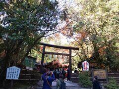 縁結びで有名な「野宮神社」 ちょうど修学旅行生がたっくさんで賑わっていたので。。スルー