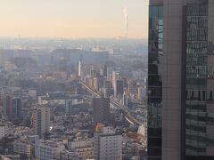 翌朝、7時半起床。 京急本線(横浜方面)を望む。