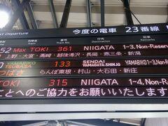 越後湯沢までなので、わりと遅めの出発。ホームにもそれなりの人がおりました。