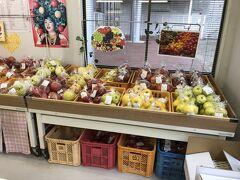 ユートリーの店内では、リンゴは箱での取り扱いでしたが、駅の前に並んでいる(ユートリーの)産直店では、数個ずつのリンゴや、その他の野菜、南部せんべい、くるみ、漬物など、生産者の名前入りのラベルで販売されていました。自分にとって珍しい名前のリンゴを選んで、宅急便で送ってもらいました。
