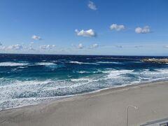 はるか展望台から前浜海岸。海が綺麗♪