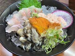 牡蠣、うに、お刺身