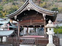 その上にある北野天満神社へ。  小さな神社ですが、静かで見晴らしも良かったです。
