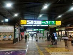 1時間10分ほどの電車旅で越後湯沢駅に到着。 子どもたちも普段見慣れない雪の量に大興奮でした。  しかし、在来線の越後湯沢駅はSUICAが使えないんですね...せっかくチャージして乗ったのに現金払いとのこと。SUICAは使えるようになってほしい。