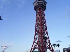 休館中の博多ポートタワー。 ベイサイドミュージアムも休館中。