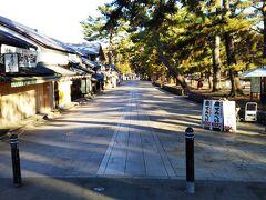 春日大社からバスに乗り、今度は「東大寺」周辺へ☆  朝だと、鹿せんべいを売ってる おばちゃん くらいしかいません。笑 朝はすいているのでオススメです☆