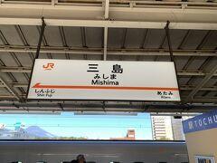 あっと言う間に三島駅に到着です!!  実は・・三島から宿へ行くのに熱海から特急踊り子号の座席指定券をネット予約していたら三島駅を乗り過ごしそうになったのです(@_@)  慌てて荷物を取って降りました(笑)