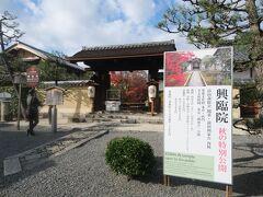 興臨院。ここも大徳寺にある塔頭の1つで、能登の戦国大名・畠山 義総(よしふさ)によって建立されました。  方丈庭園が有名ですが、今回はここはスルー。