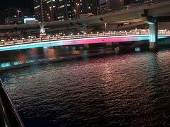 中之島ガーデンブリッジ  堂島川の大江橋と渡辺橋の間に架けられた歩行者専用の橋。 橋の幅は広くくつろぎ空間になっています。中之島の橋は冬になると光でライトアップされます。