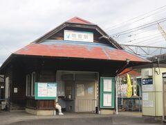 明智城跡から、3キロほど離れたところにある名鉄広見線・明智駅。  この駅舎は大正9年にこの鉄道が開業したとき以来の貴重な駅舎です。