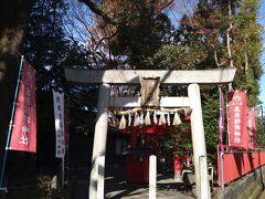 いせやさんの前にある稲荷神社。  あれ?上野天神宮(菅原神社)に来たつもりだったのに?