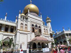 Bugis駅から歩いてサルタン・モスクへ  春節なので、外観のみ