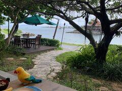 ある日の朝食はビーチ側でした。