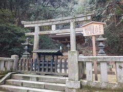 御本宮から更に階段を登り真井橋(まないばし)を渡り「常磐神社」に着きました。  常磐神社の御祭神は、神話「天孫降臨」の武勇の神様 武雷尊(たけいかづちのみこと)と誉田和氣尊(ほんだわけのみこと)なのだそうです。