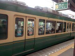 再び江ノ電鎌倉行きに乗り込みます。