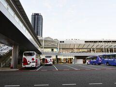 空港行きリムジンバス乗り場。