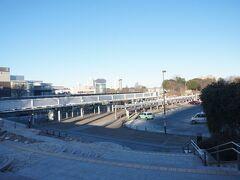 7時40分ごろにつくば駅に到着しました。 寒いです。