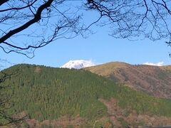富士山の頭が見えますよ。