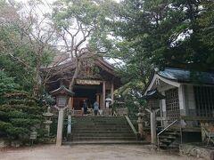 お腹も満たして 次の目的地 志賀島にあります「志賀海神社」へ向かいます。 空港から車で30分程度です。