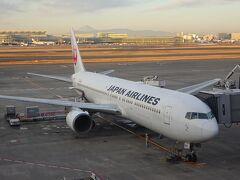 羽田空港7:40発のJAL183で小松空港へ。 まずは空港からバスで丸岡城を目指します。