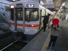新快速で金山駅まで戻ってきました。