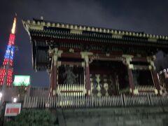 有章院霊廟二天門と東京タワー  東京メトロで帰りたいのですが、もう寒いしだるいので神谷町まで行く気力がなくなりました 都営三田線御成門から帰りますよ
