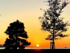 途中、宍道湖でちょうど夕陽を見ることができました♪(^o^)