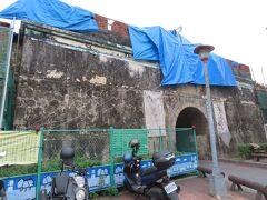 鳳山県旧城 北門(拱辰門)、改装中