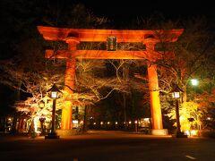 今度こそ真っすぐ帰ろう!と思ったら、冠稲荷神社がライトアップされてたので、ちょっと寄りました