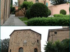 """次は『ネオニアーノ洗礼堂』へ向かいます。  5世紀半ばに大聖堂付属の洗礼堂として建設された ラヴェンナに残る最も古い建造物の一つです。 (現在の大聖堂は18世紀に再建)  """"アリウス派""""の『アリアーニ洗礼堂』と区別するために 『正教徒洗礼堂(Battistero degli Ortodossi)』とも呼ばれます。"""