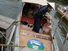 堀川めぐりは大人1,500円ですが、レンタカーショップで貰った200円割引券とプレミアム観光券を使ったので実質650円 \(^o^)/。  いよいよ乗船です。こたつ船に乗るの初めて~♪