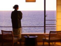 湯野浜温泉「游水亭 いさごや」にチェックイン! なんやかややってるうちに、ミルミル陽がつるべ落としのように。