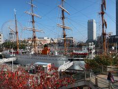 「帆船 日本丸」を眺めて・・・。