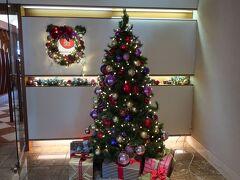 レストラン入口に「クリスマスツリー」。  今日のランチはこちら。  「ベイサイド」。