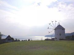 反対側から 海と風車でとっても素敵
