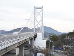 尾道大橋はスキップ、大浜PAでちょい散歩、因島大橋。