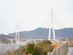 生口橋はスキップ、瀬戸田PAでちょこっと散歩、大三島への多々羅大橋。大三島ICで降りるなら橋のたもとに道の駅と公園があった、のをすっかり忘れてた。