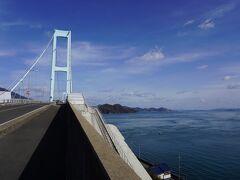 とびしま海道はここまでかな、安芸灘大橋、730円。白崎園という公園から。